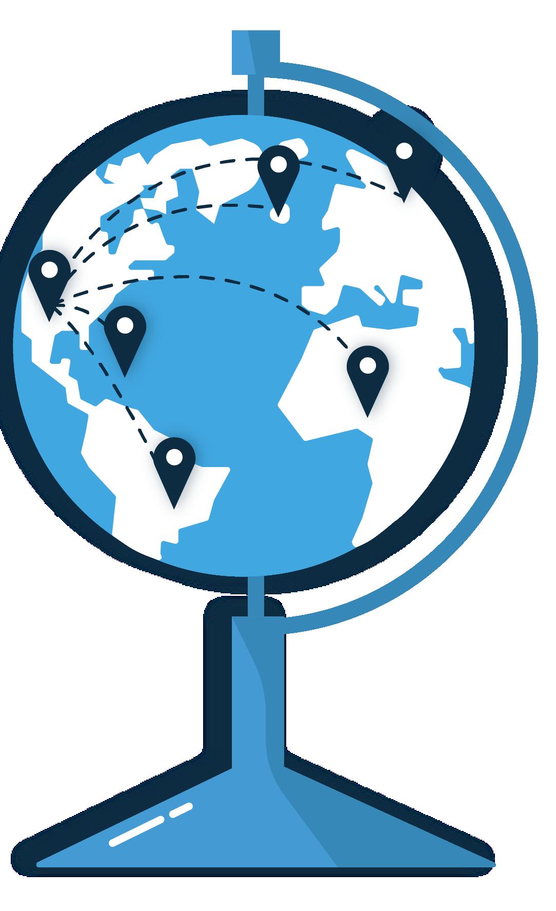 international shipping company illustration
