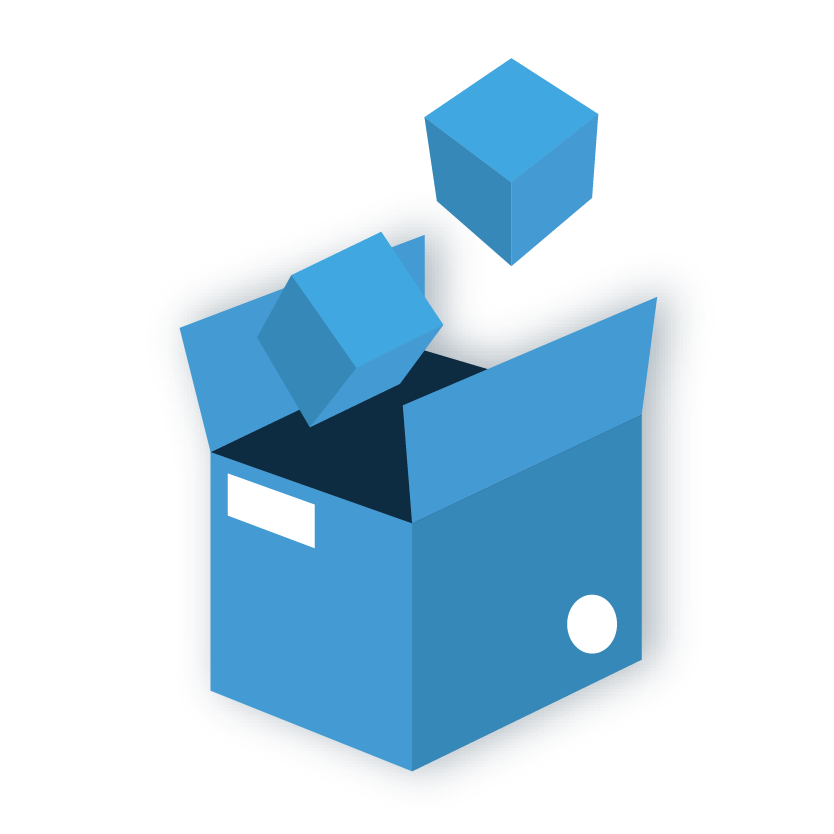complimentary package consolidation icon