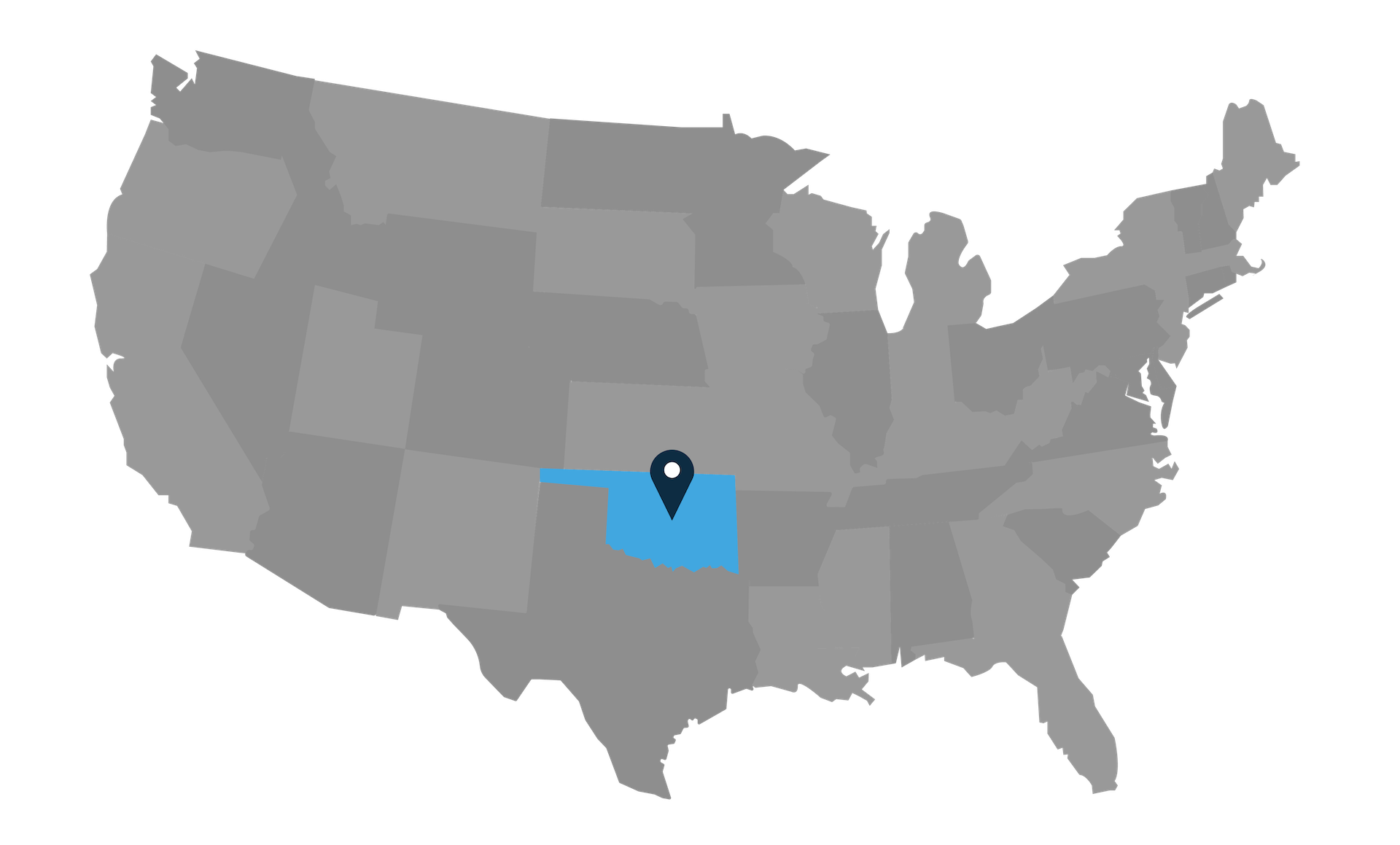 map of united states with usshipshop location