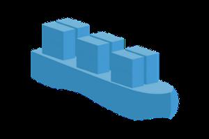ocean freight shipping icon